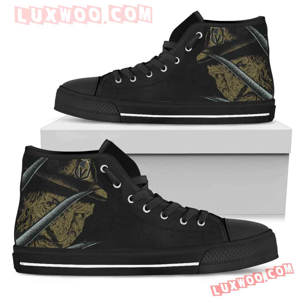 Vegas Golden Knights Nightmare Freddy Colorful High Top Shoes