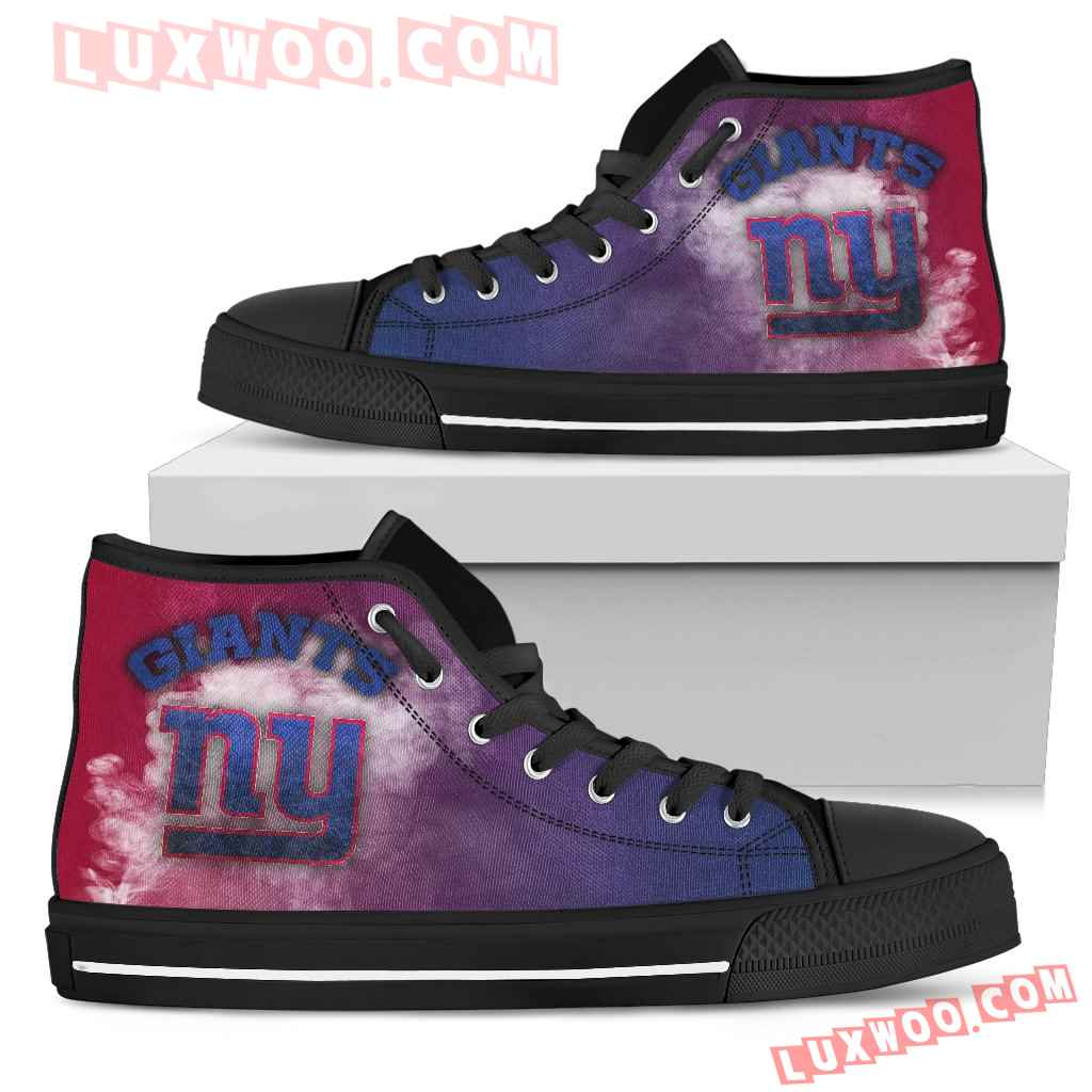White Smoke Vintage New York Giants High Top Shoes