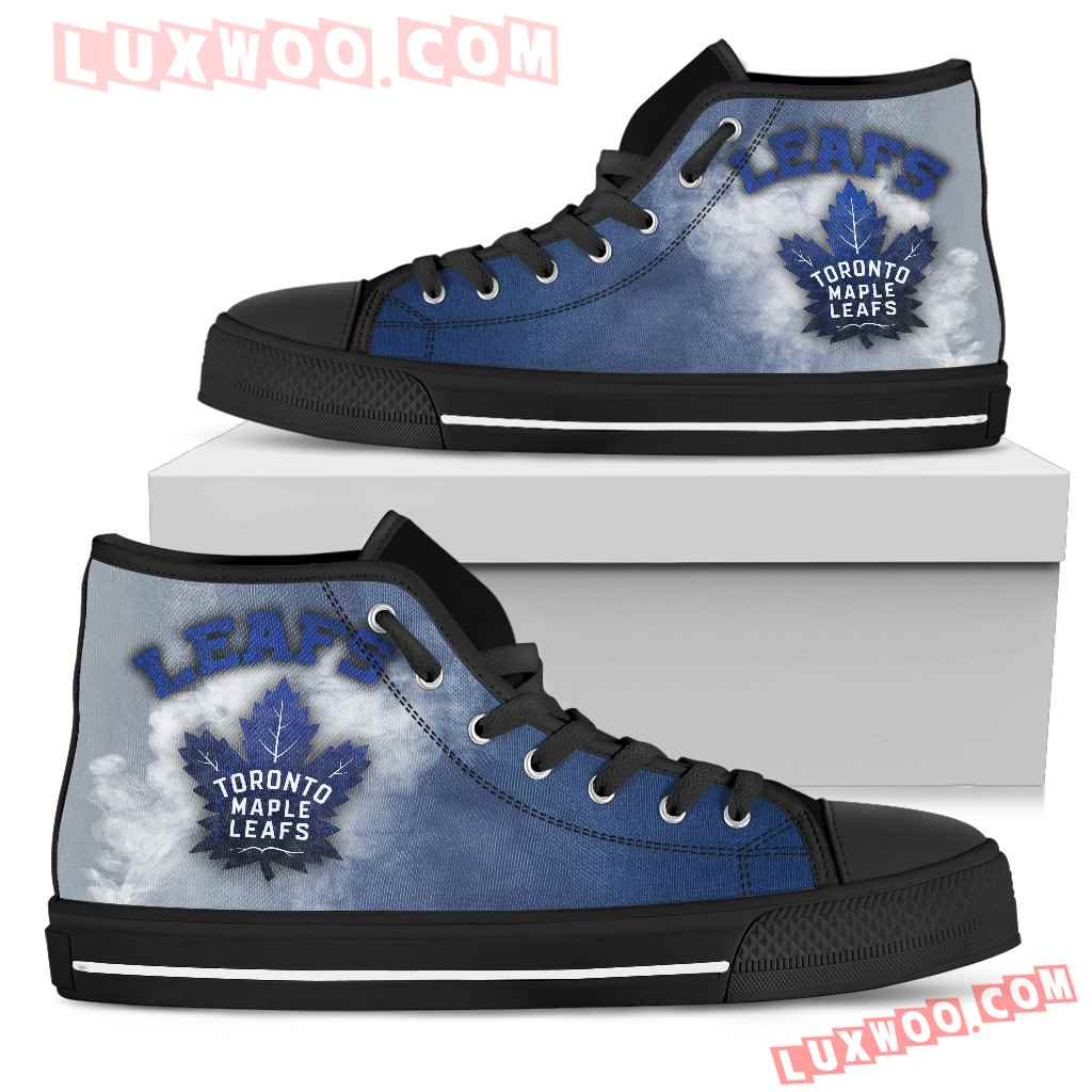 White Smoke Vintage Toronto Maple Leafs High Top Shoes