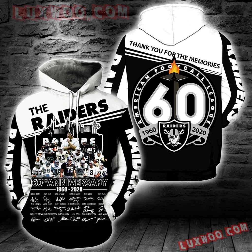 60th Anniversary Raiders New Full All Over Print S1141
