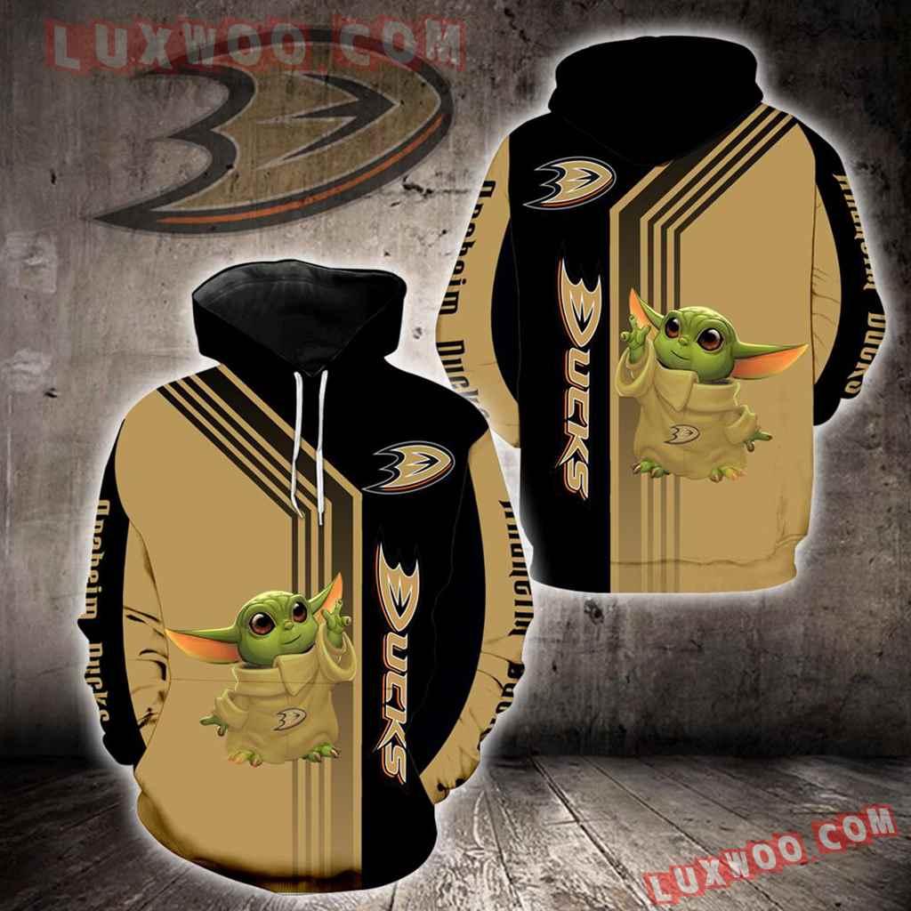 Anaheim Ducks Baby Yoda New Full All Over Print V1542