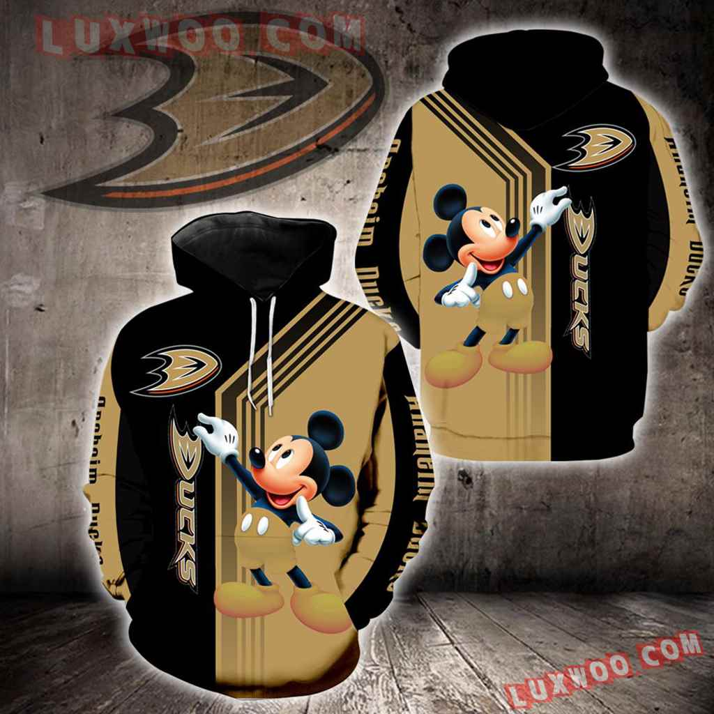 Anaheim Ducks Mickey Mouse New Full All Over Print V1520