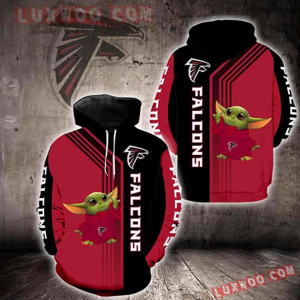 Atlanta Falcons Baby Yoda Green New Full All Over Print K1268