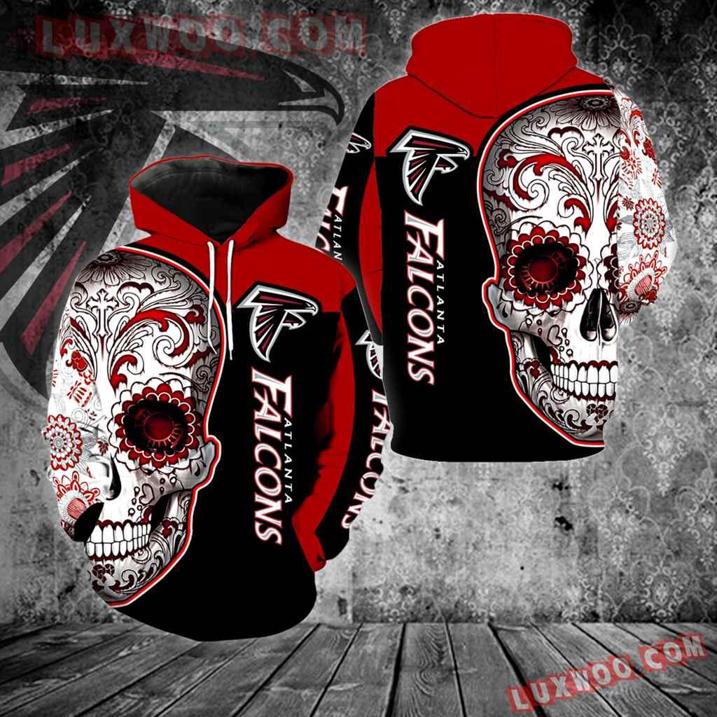 Atlanta Falcons Skull New Full Over Print V1325