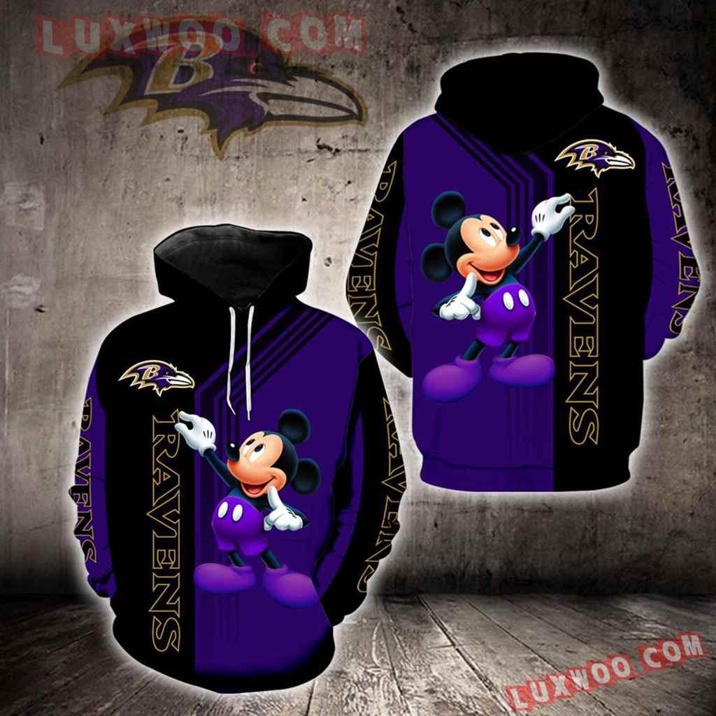 Baltimore Ravens Mickey Mouse New Full All Over Print K1316