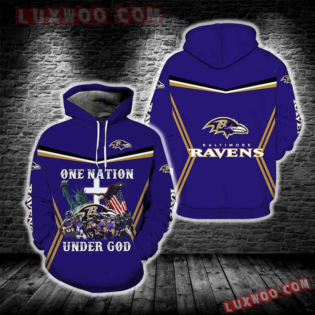 Baltimore Ravens One Nation Under God New Full All Over Print S1687