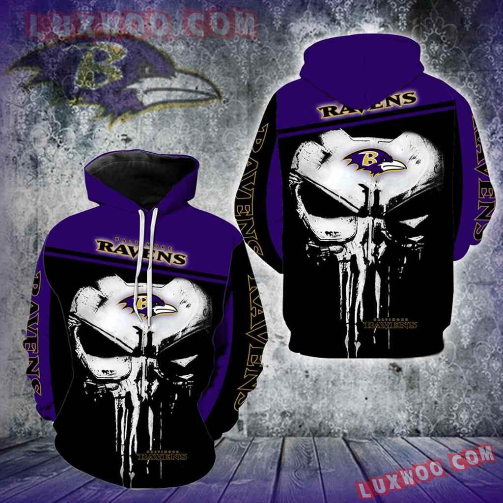 Baltimore Ravens Punisher Skull New Full All Over Print V1442