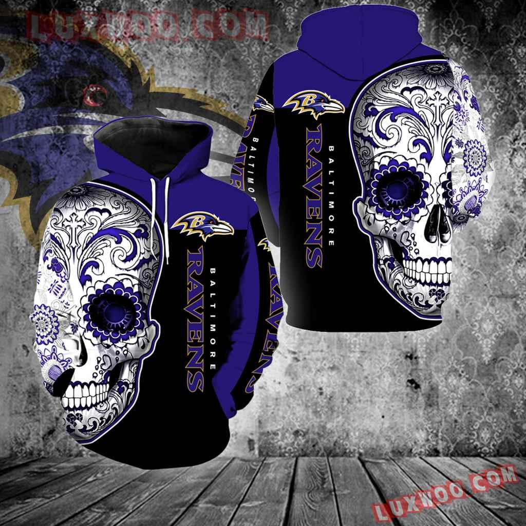Baltimore Ravens Skull Full Over Print K1086