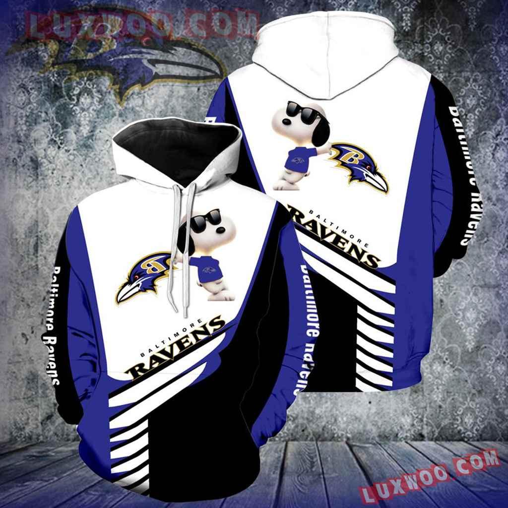 Baltimore Ravens Snoopy New Full Over Print V1341