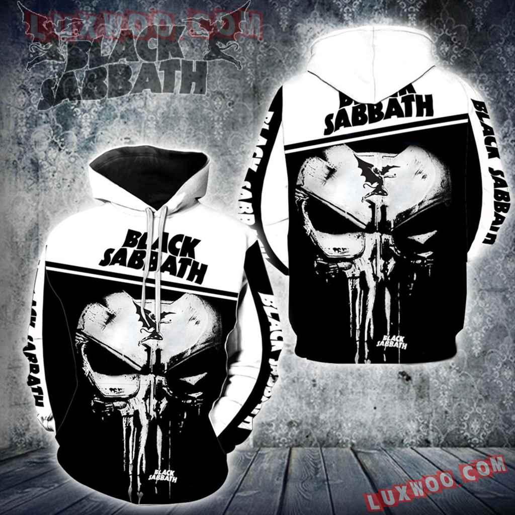 Black Sabbath Punisher New Skull Full All Over Print K1215