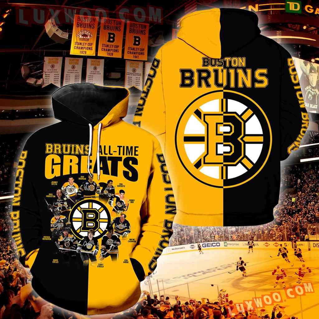 Boston Bruins All Time Greats New Full All Over Print K1231