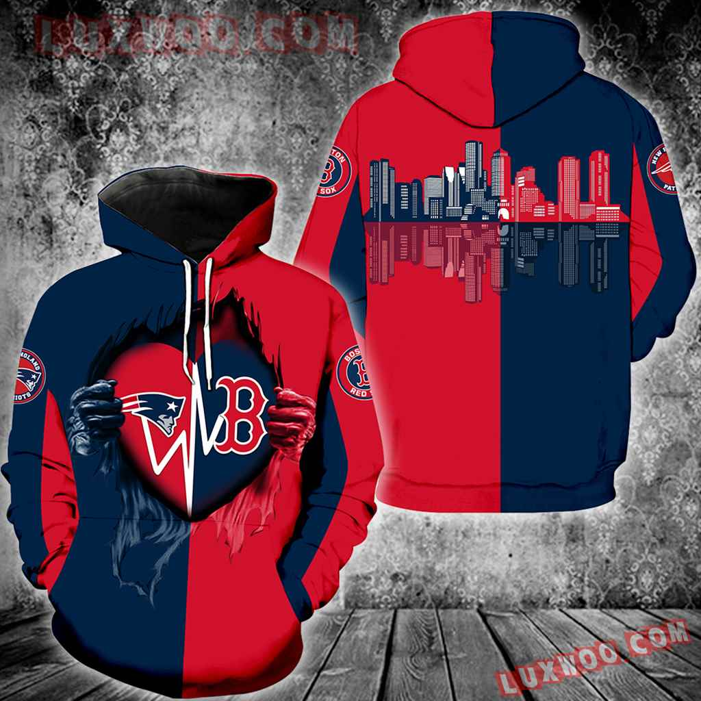 Boston Red Sox New England Patriots New All Over Print K1010