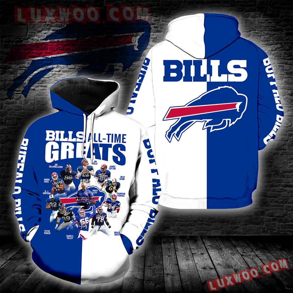 Buffalo Bills All Time Greats New Full All Over Print K1232