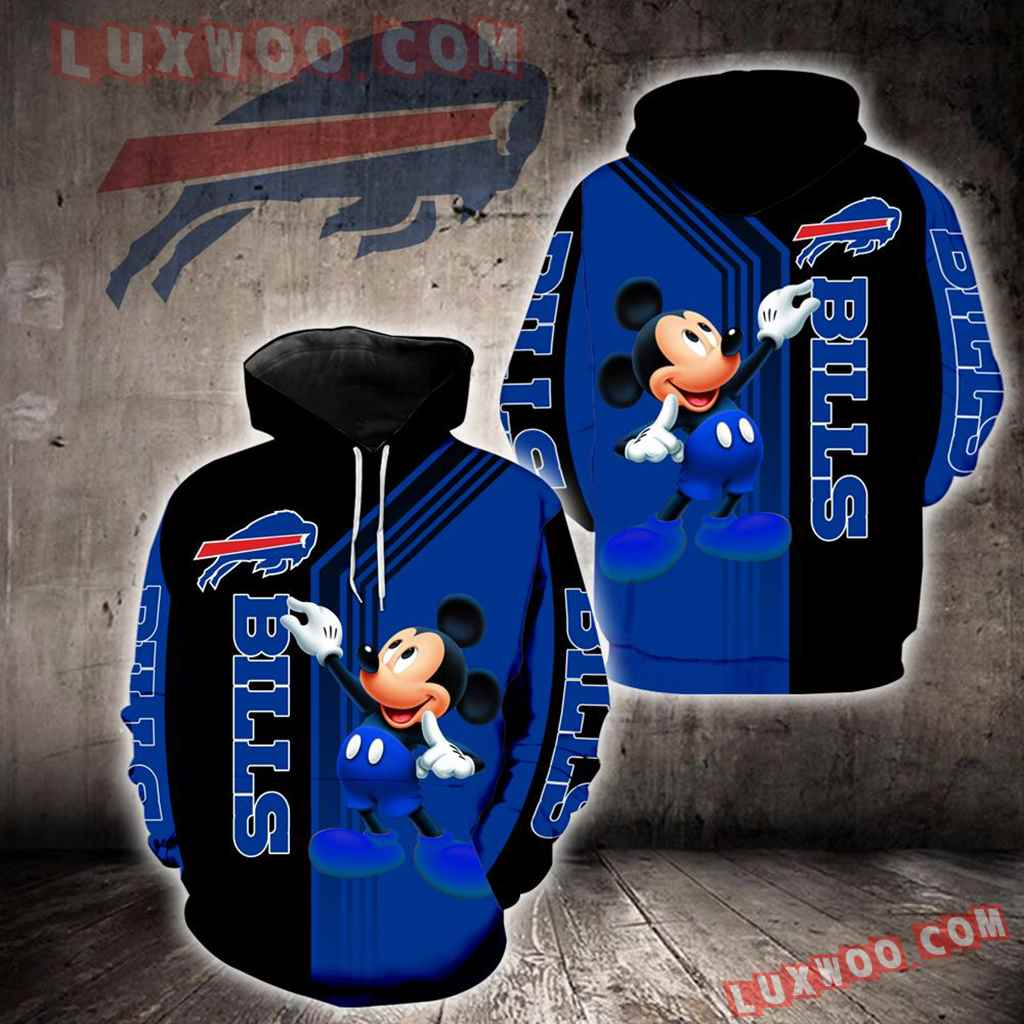 Buffalo Bills Mickey Mouse New Full All Over Print K1318