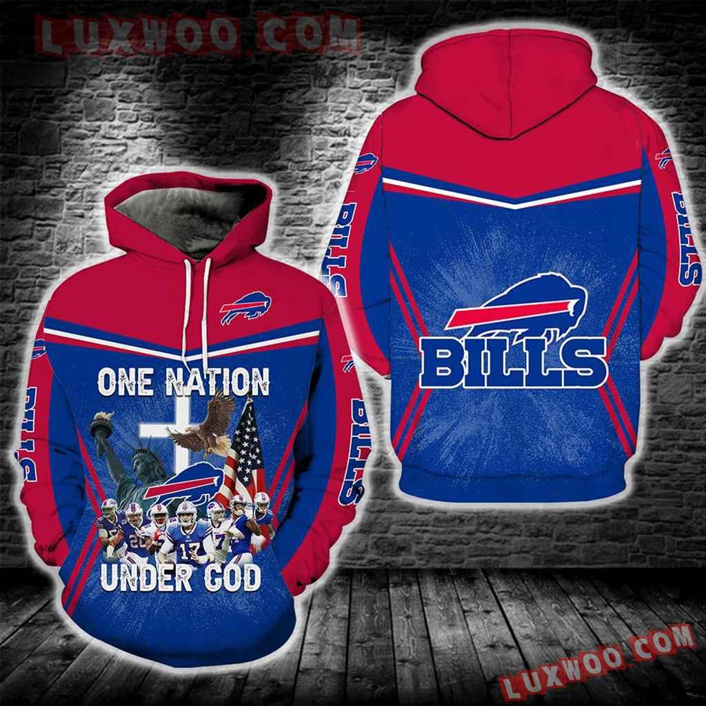 Buffalo Bills One Nation Under God New Full All Over Print K3272