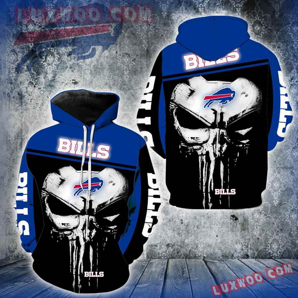 Buffalo Bills Punisher Skull New Full All Over Print V1441