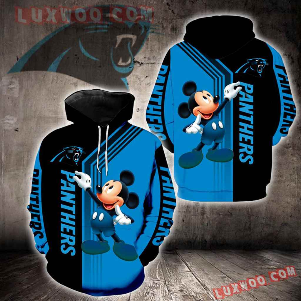 Carolina Panthers Mickey Mouse New Full All Over Print K1328