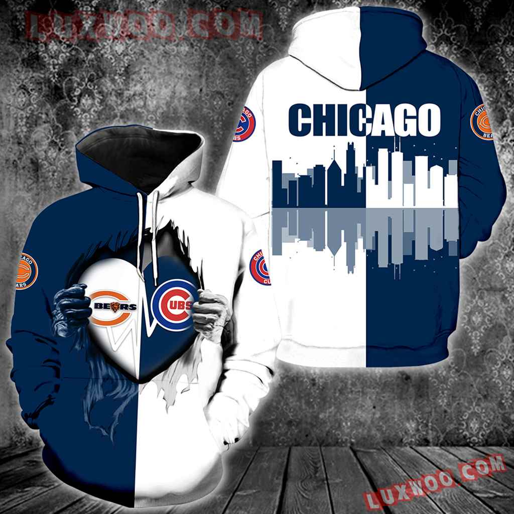 Chicago Bears Chicago Cubs All Over Print V1173