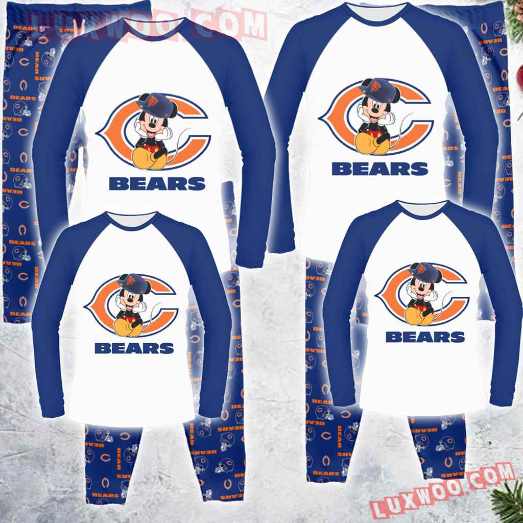 Chicago Bears Mickey Mouse Family Pajamas Set S1707