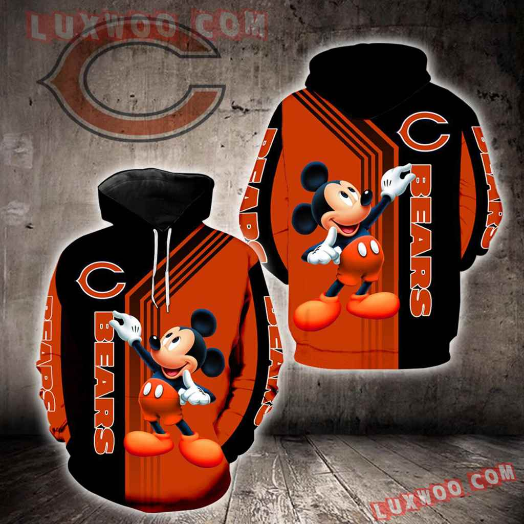 Chicago Bears Mickey Mouse New Full All Over Print K1233
