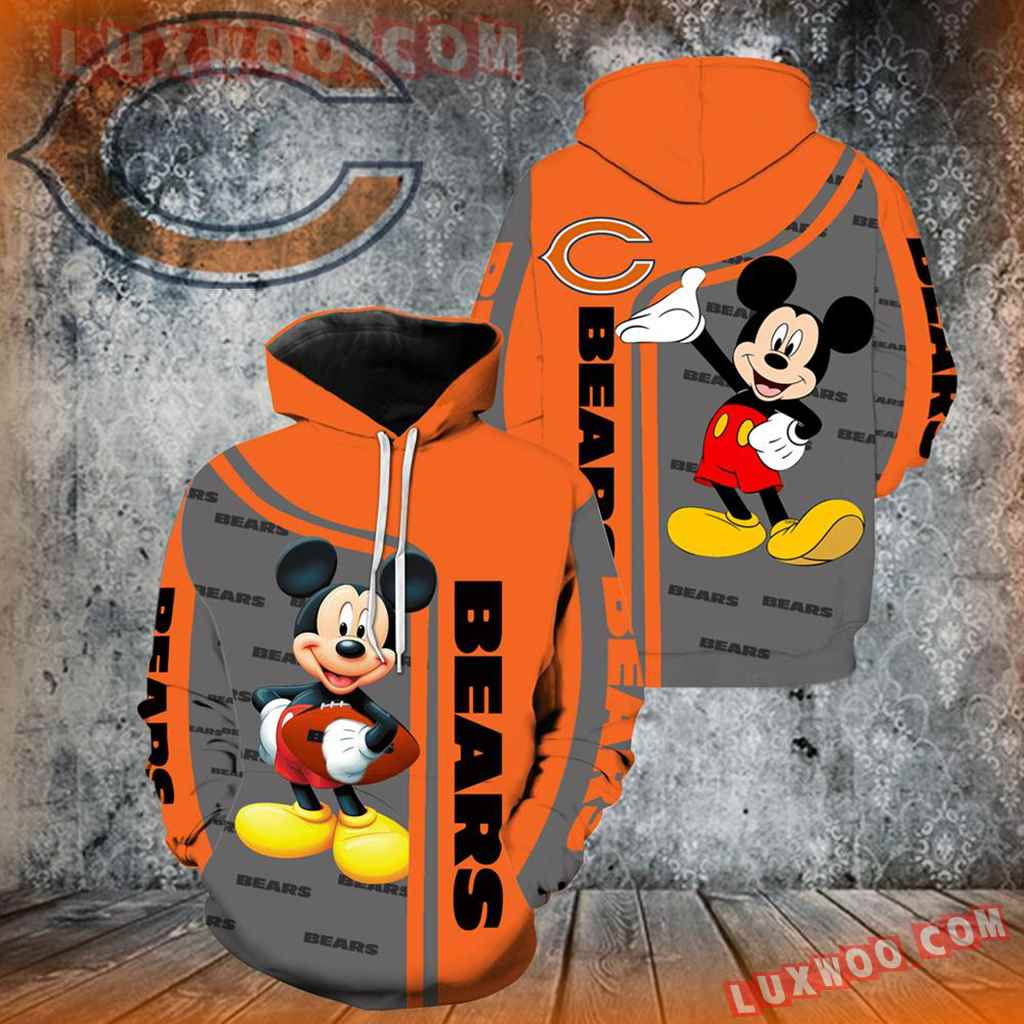 Chicago Bears Mickey Mouse New Full Over Print V1364