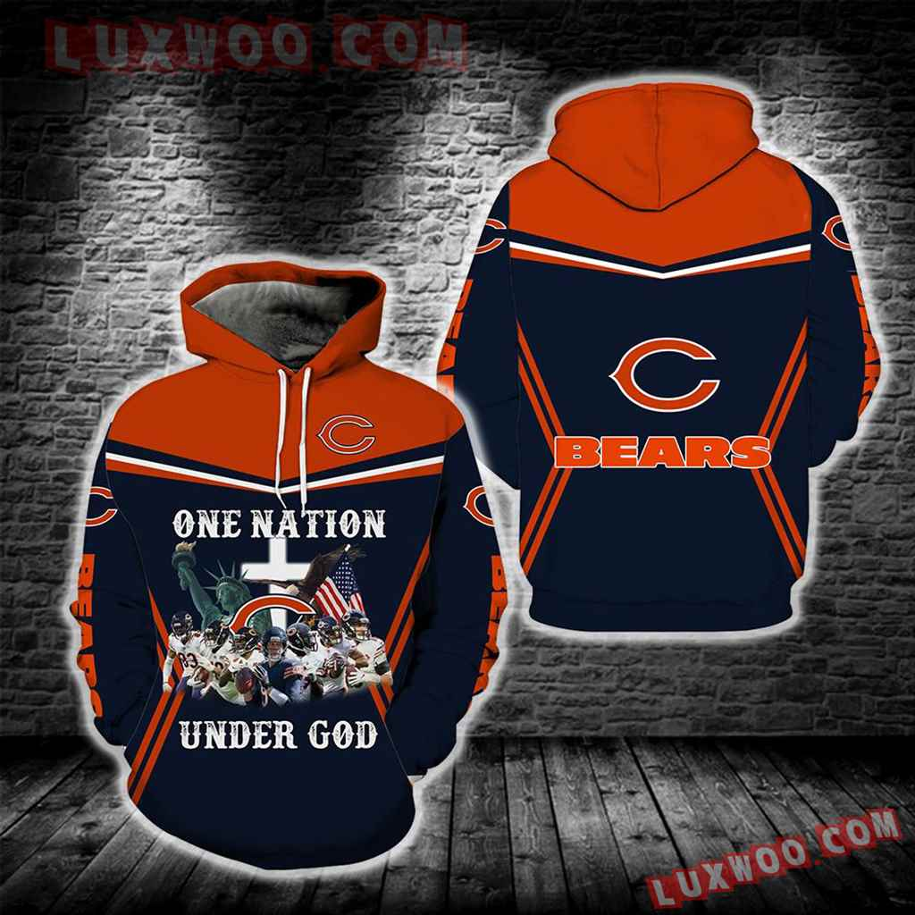Chicago Bears One Nation Under God New Full All Over Print S1691