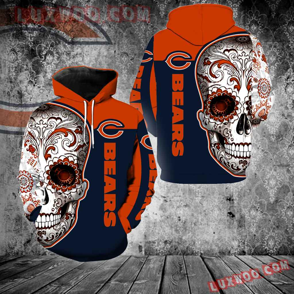 Chicago Bears Skull Full Over Print K1096