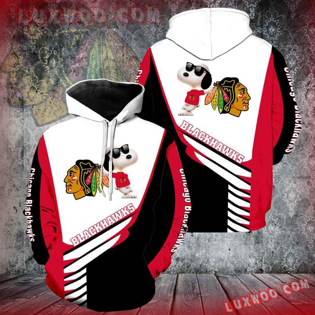 Chicago Blackhawks Snoopy New Full Over Print V1329