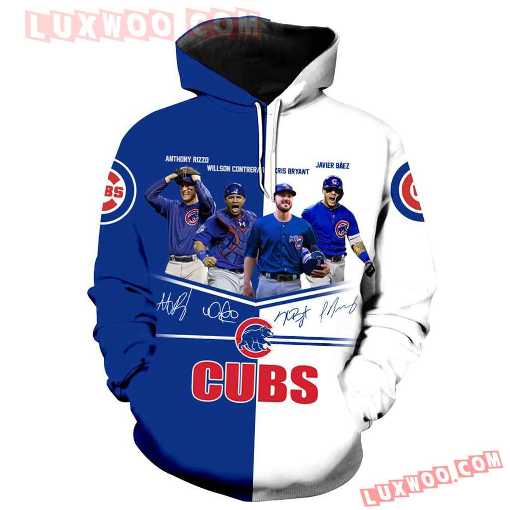 Chicago Cubs 3d Hoodie Full Over Print 1211 1