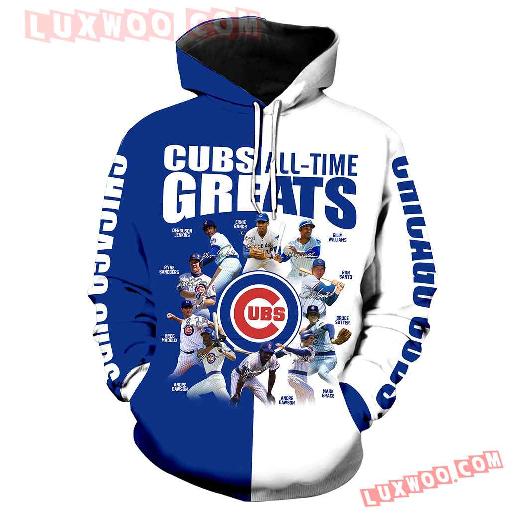 Chicago Cubs All Time Greats 3d Hoodie New Full All Over Print V1427 1