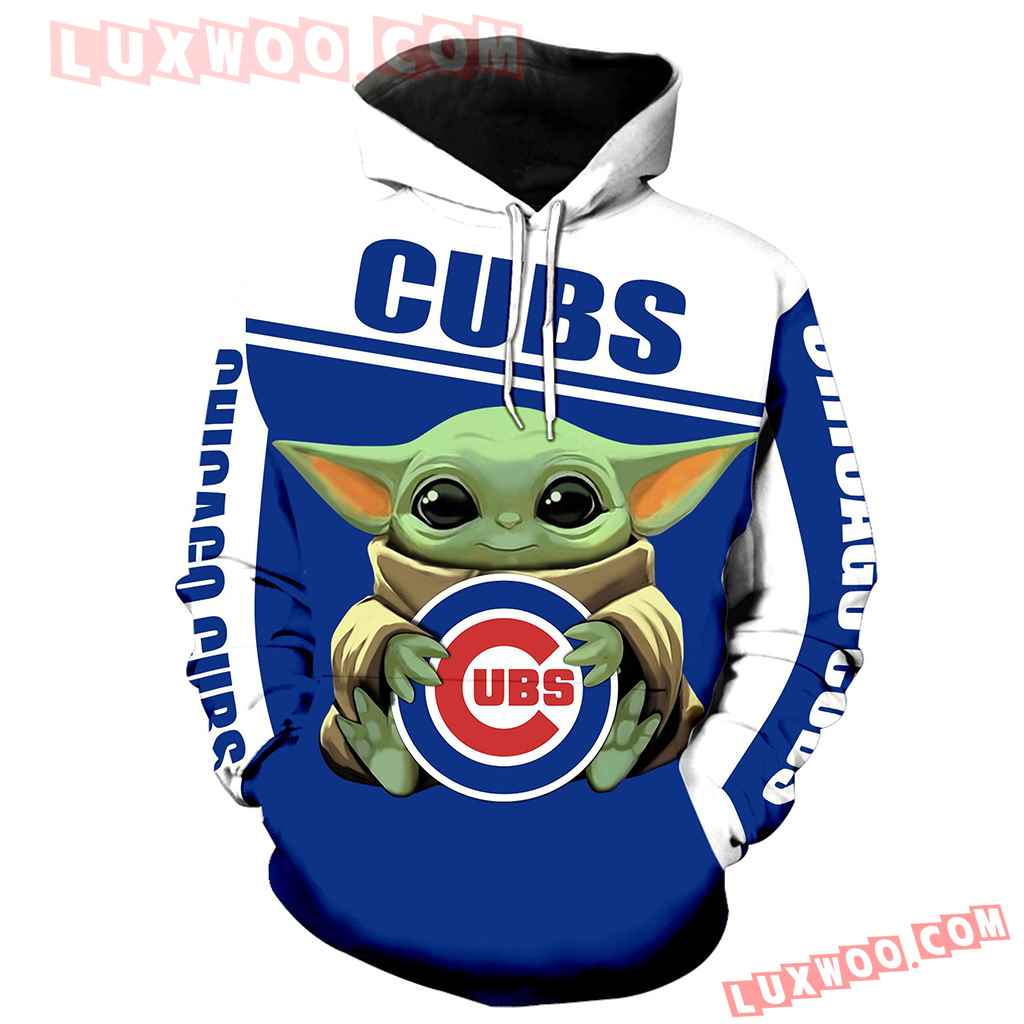 Chicago Cubs Baby Yoda 3d Hoodie New Full All Over Print K1278 1