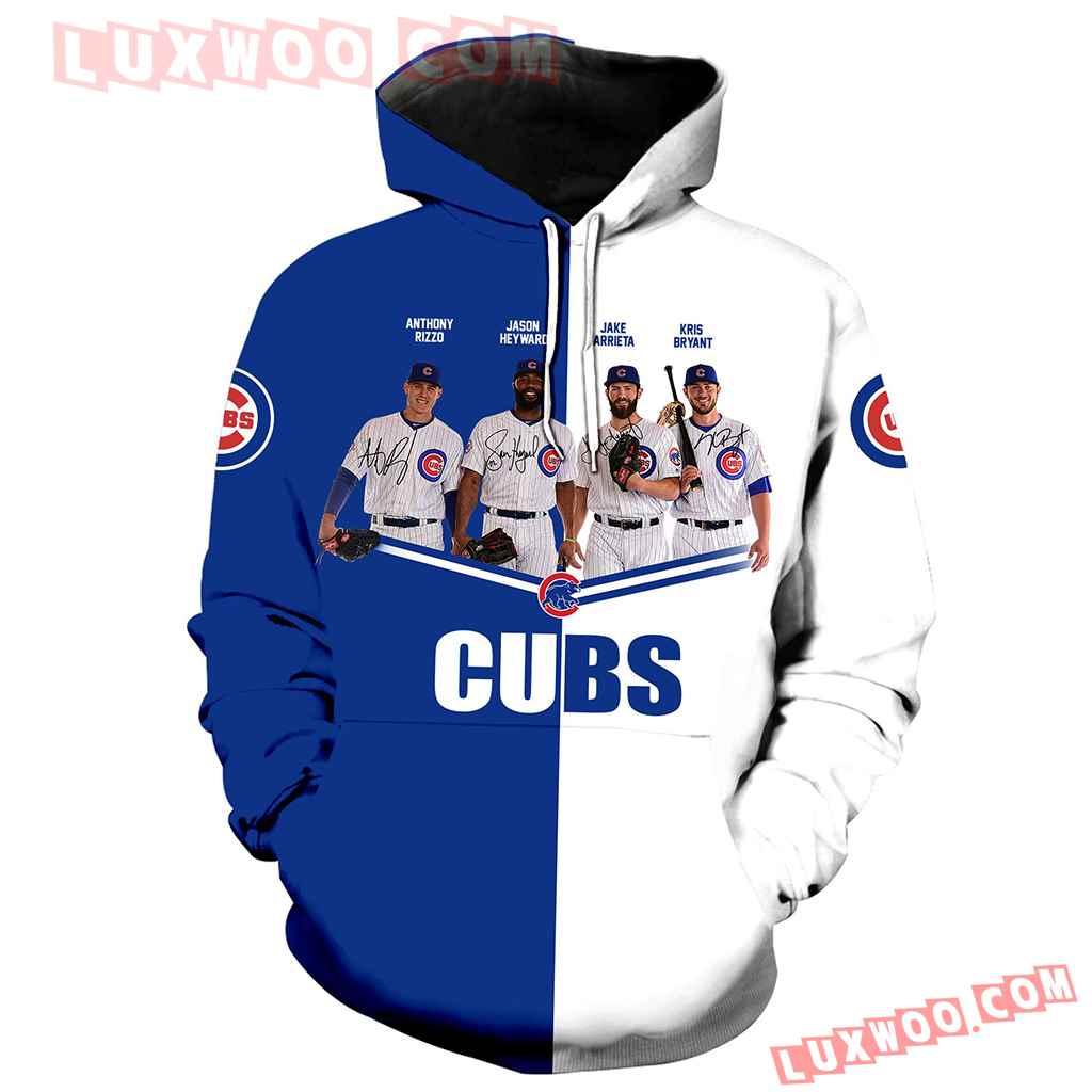 Chicago Cubs Legends 3d Hoodie All Over Print V1061 1