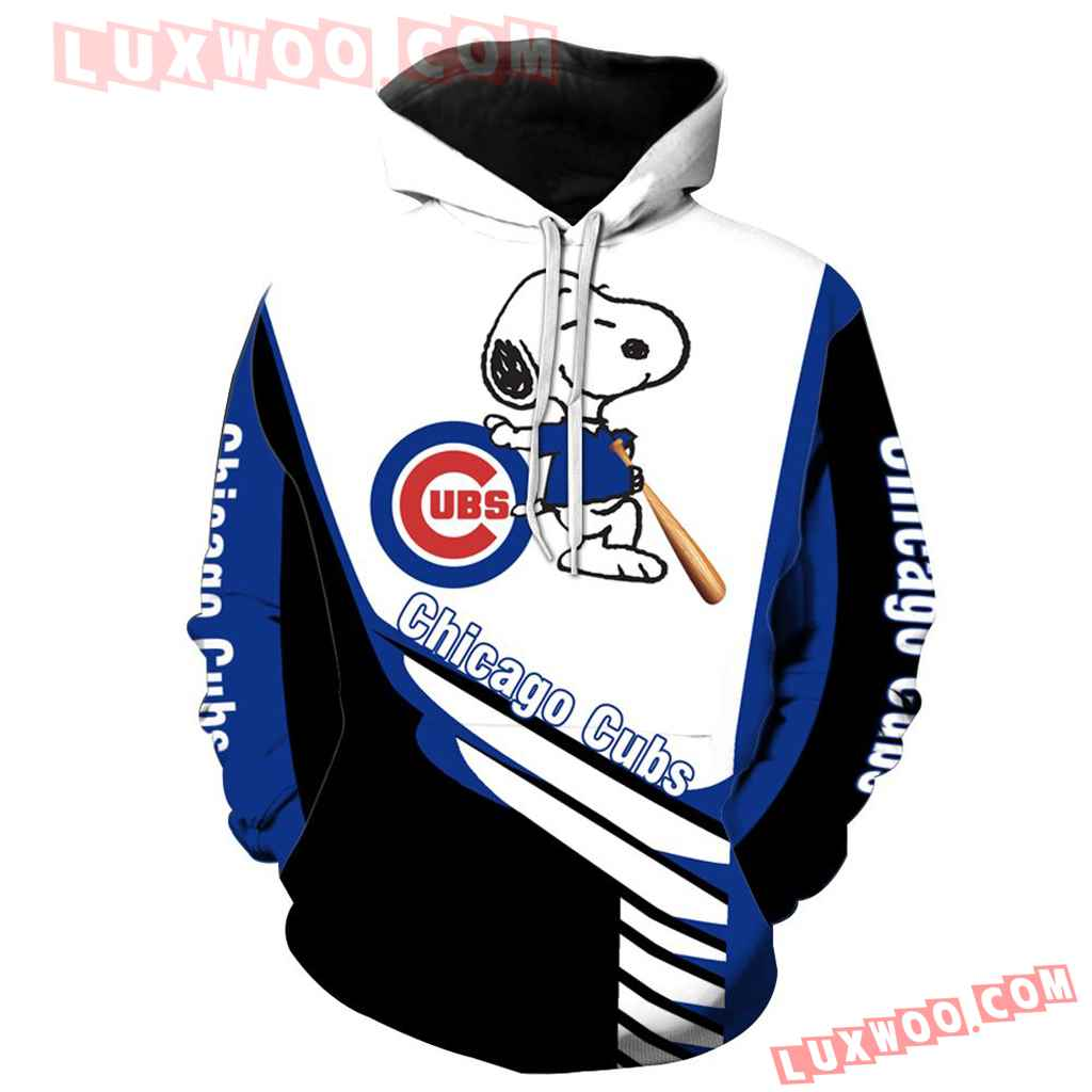 Chicago Cubs Snoopy 3d Hoodie New All Over Print K1017 1