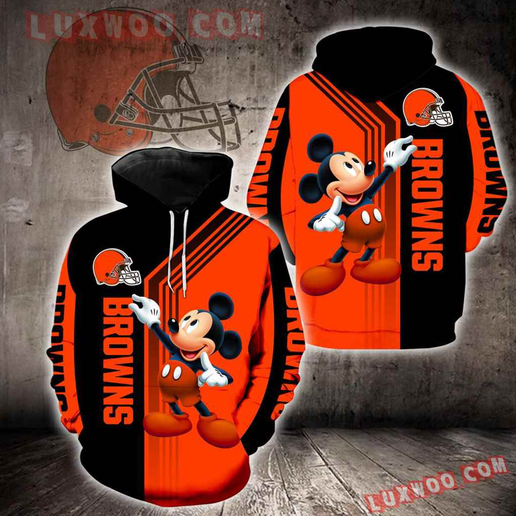Cleveland Browns Mickey Mouse New Full All Over Print K1319