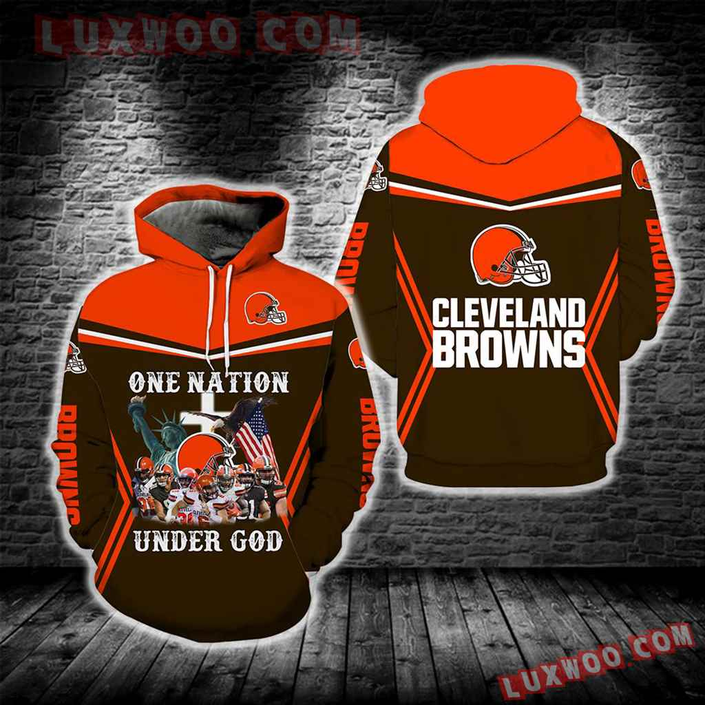 Cleveland Browns One Nation Under God New Full All Over Print S1696