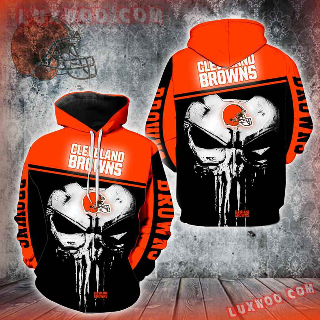 Cleveland Browns Punisher Skull New Full All Over Print V1429