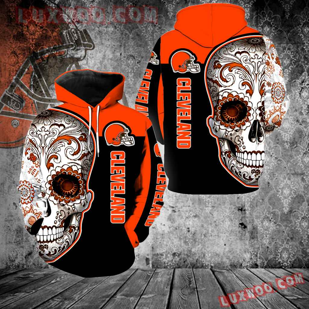 Cleveland Browns Skull New Full Over Print V1322