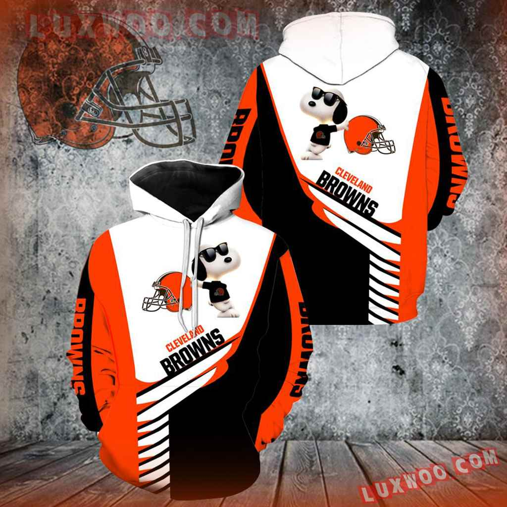 Cleveland Browns Snoopy New Full Over Print V1335