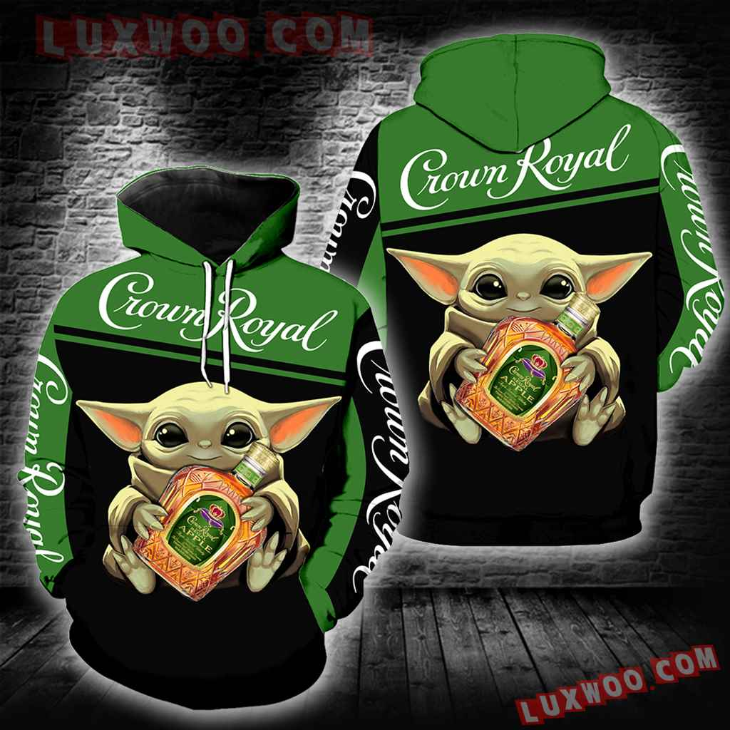 Crown Royal Baby Yoda Green New Full All Over Print V1496