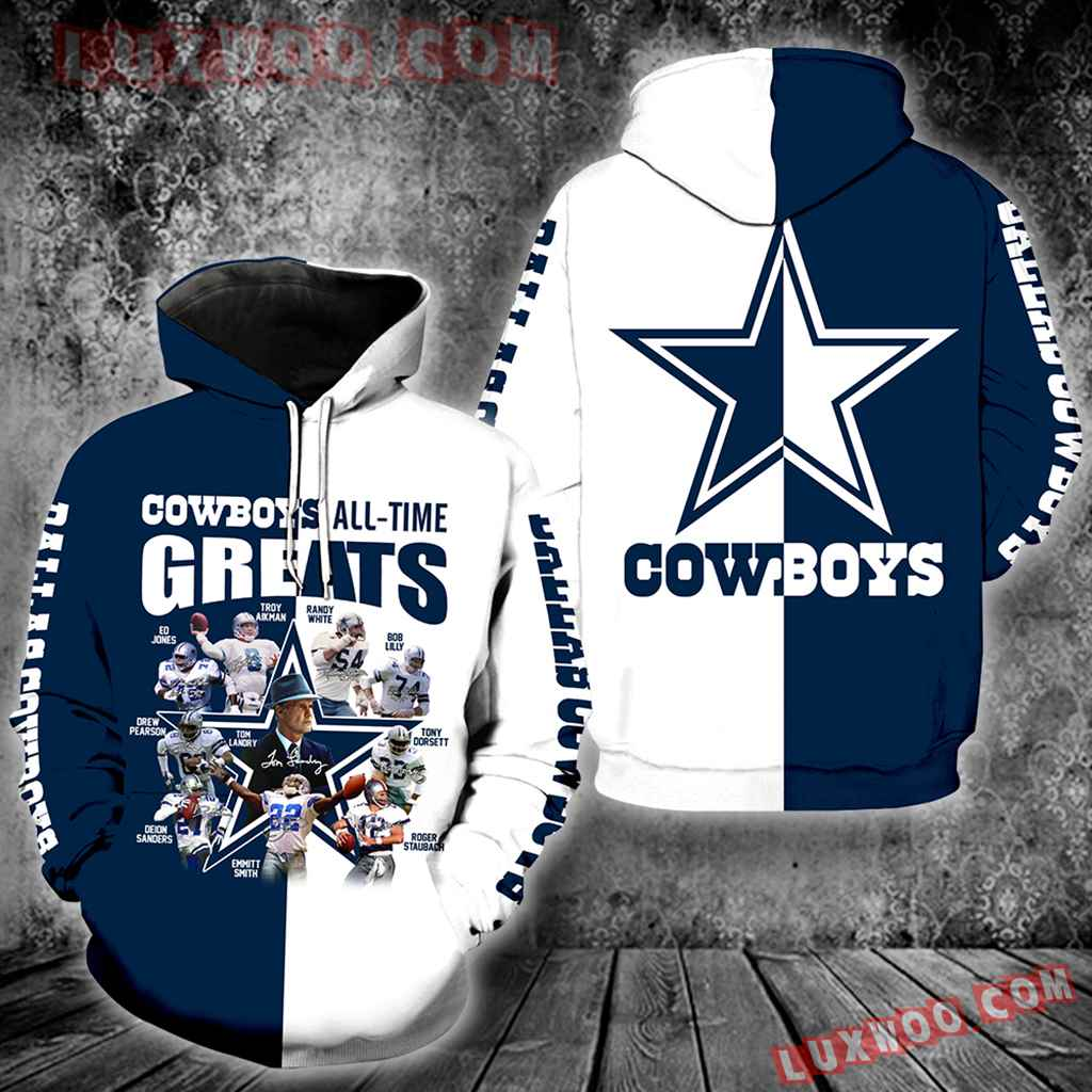 Dallas Cowboys Greats All-time New Full Over Print V1361