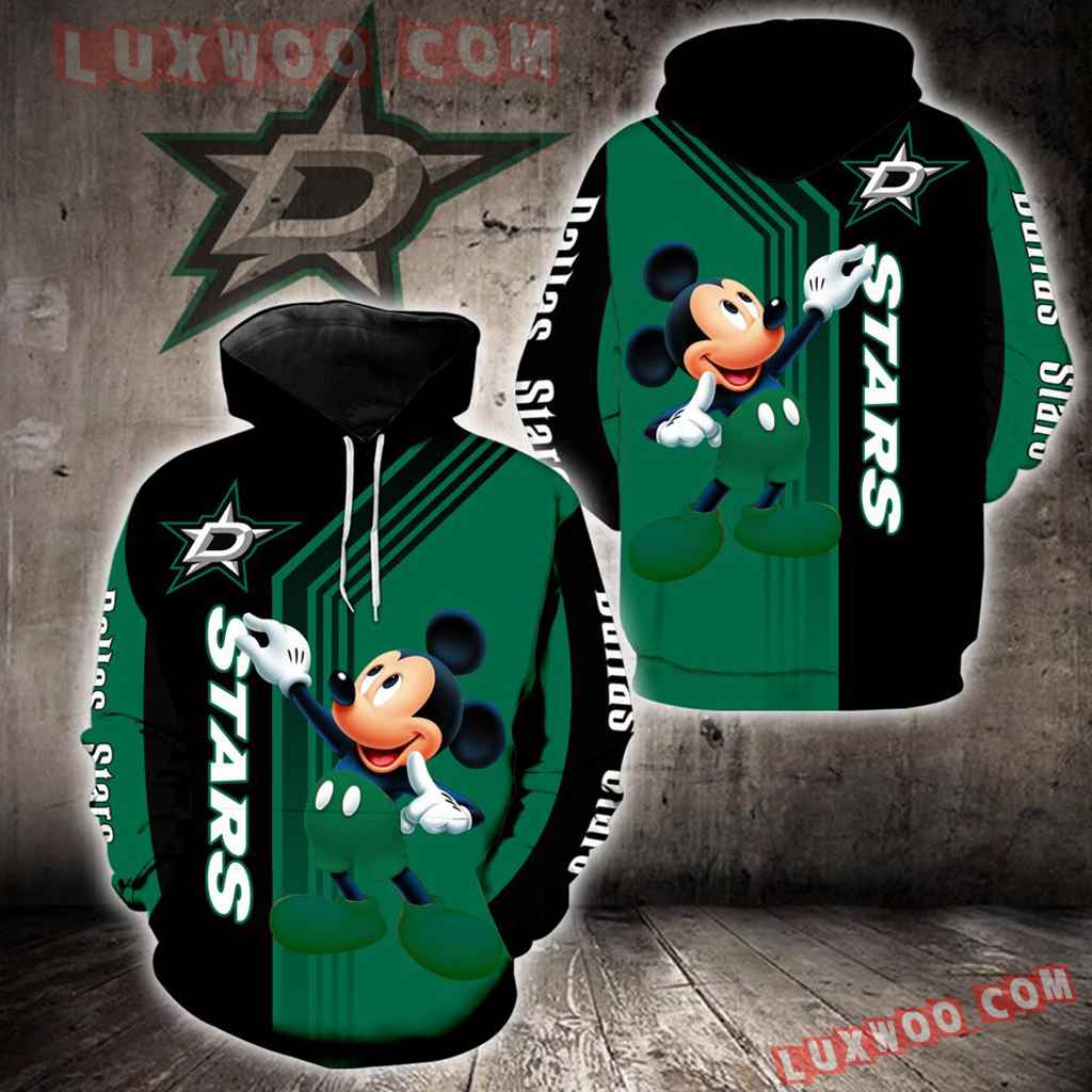Dallas Stars Mickey Mouse New Full All Over Print V1512