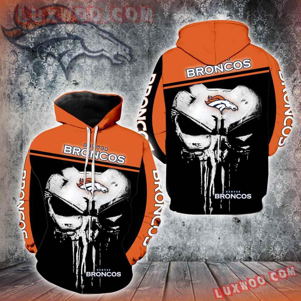 Denver Broncos Punisher Skull New Full All Over Print V1437