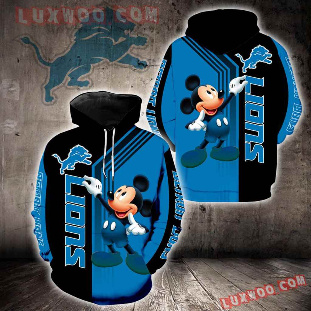 Detroit Lions Mickey Mouse New Full All Over Print K1330