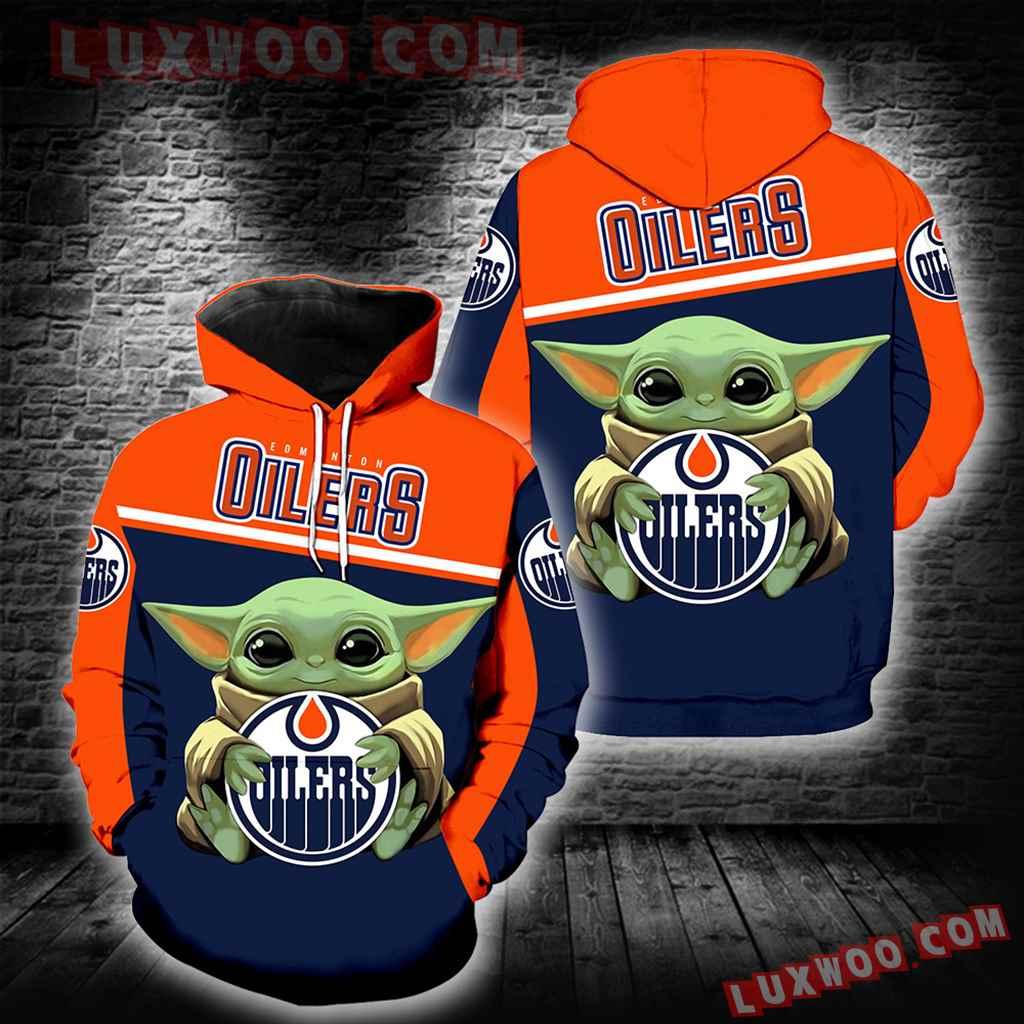 Edmonton Oilers Baby Yoda New Full All Over Print K1372