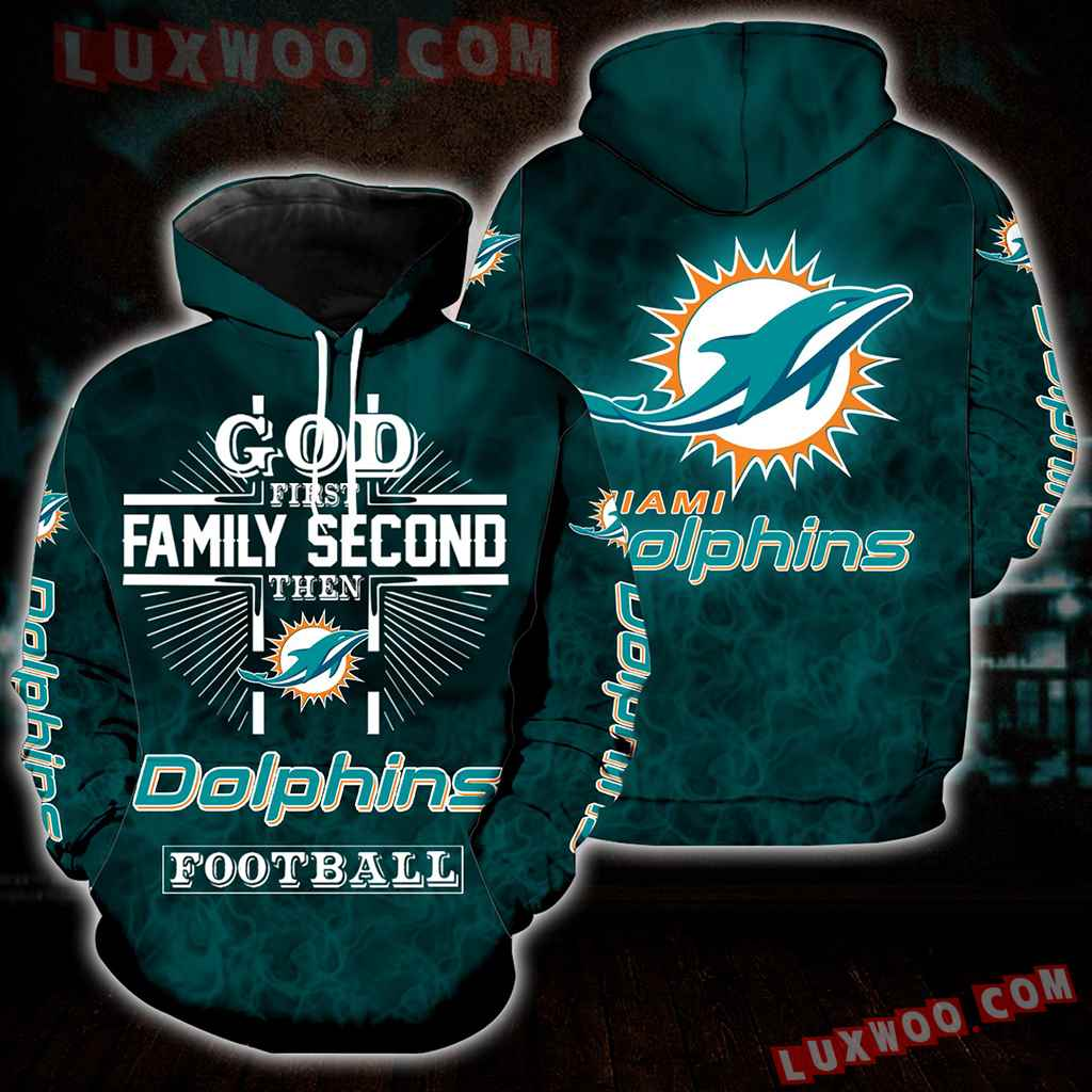 God First Family Second Then Miami Dolphins Full All Over Print S1397