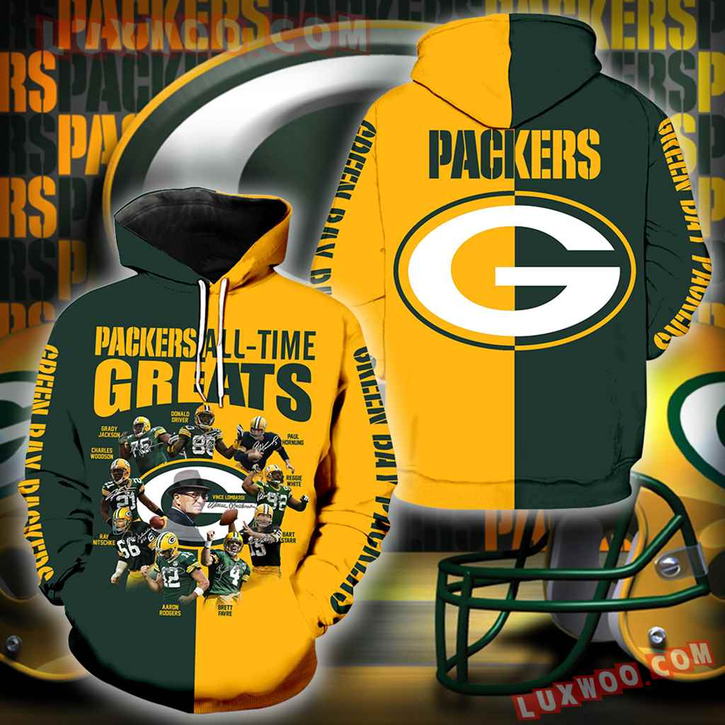 Green Bay Packers All Time Greats New Full All Over Print K1202