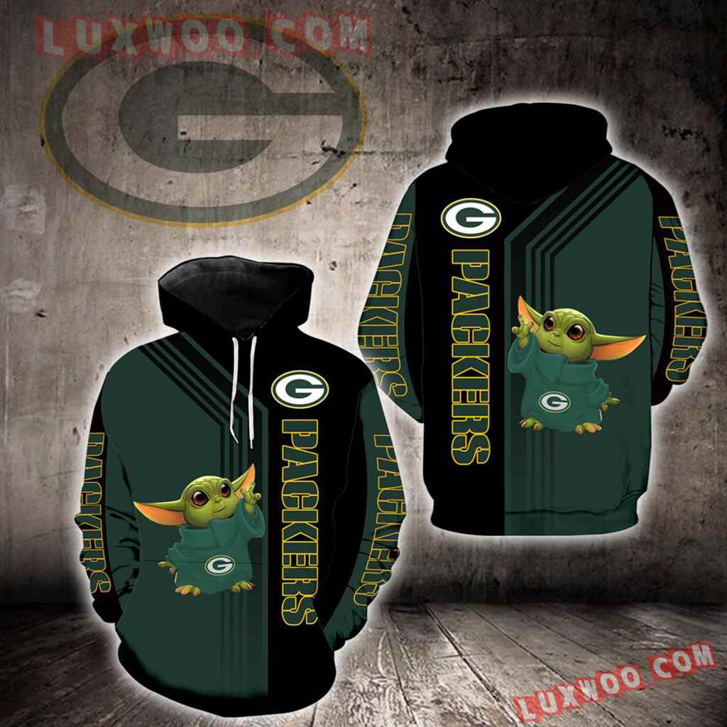 Green Bay Packers Baby Yoda Green New Full All Over Print K1250