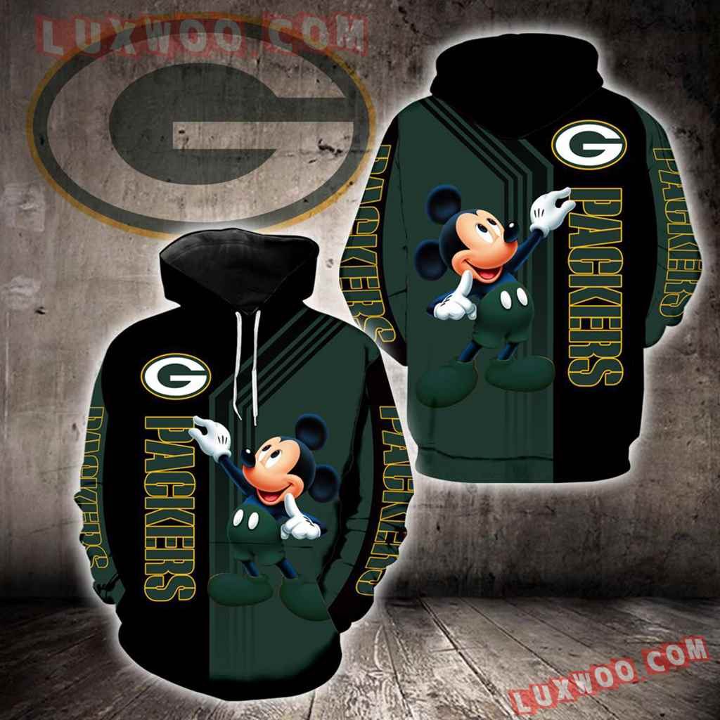 Green Bay Packers Mickey Mouse New Full All Over Print K1325