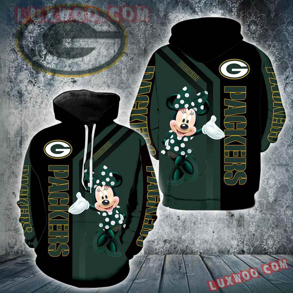 Green Bay Packers Minnie Mouse New Full All Over Print V1458