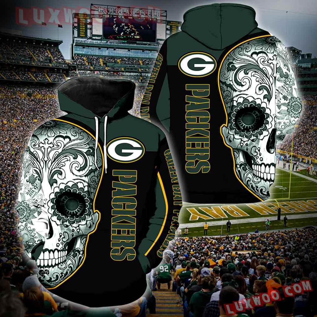 Green Bay Packers Skull Full Over Print K1038